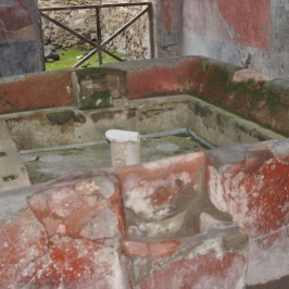 Elaborate Water Catchment Pool, complete with largely intact mural decoration