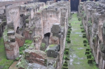 The Colosseum - underground tunnels that housed gladiators and animals