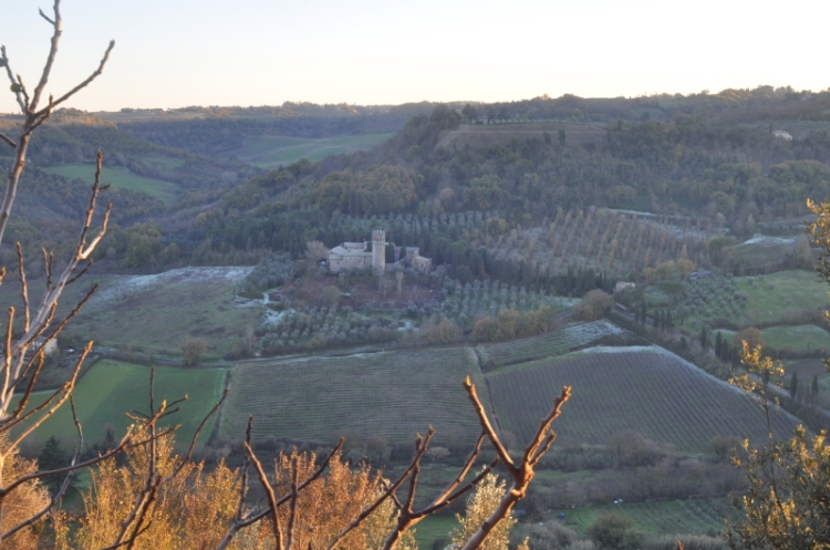view from the top of Orvieto