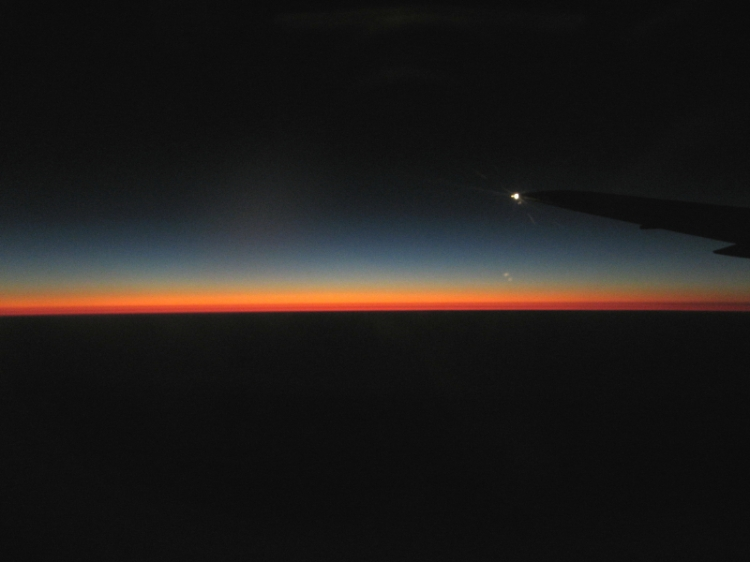 Sunrise from an aeroplane