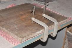 Makeshift paper press