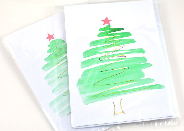 Hand Painted Christmas Card