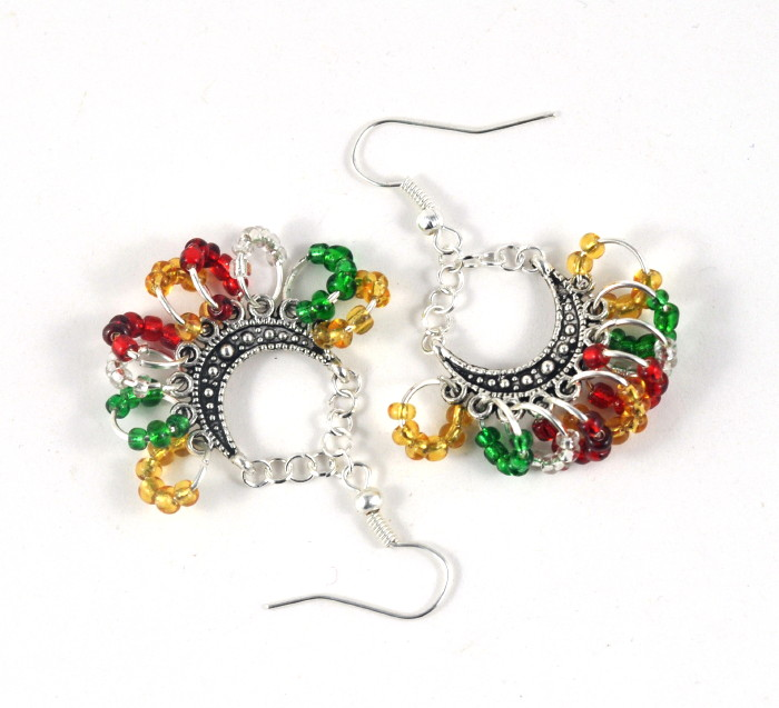 Christmas colours seed bead jewellery
