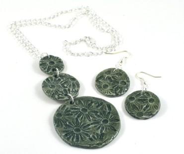 daisy imprint jewellery set