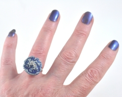 ceramic and seed bead ring