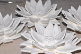 Freshly made lotus flowers