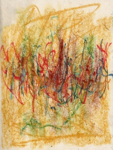 Abstract - Pastel on Handmade paper