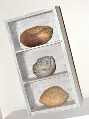 Dawn Whitehand: Boxed Earth - Wheeltrown clay, Volcanic Glaze, Wooden Box