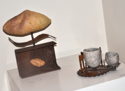 Dawn Whitehand: In the Balace and Ancient Technology - Wheelthrown and Handbuilt , Found Objects, Mixed Media.