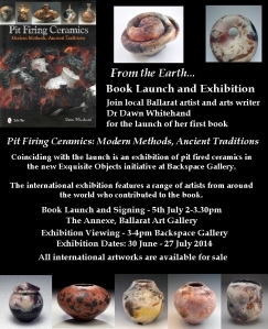 Dawn Whitehand Pit Firing book launch flyer