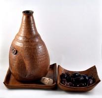 Dawn Whitehand Ceramic Sake Set-5