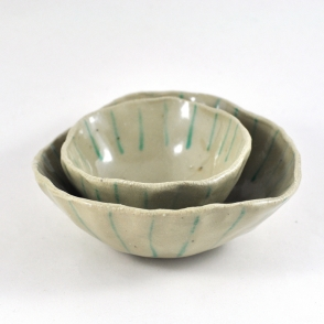 Dawn Whitehand Ceramic Bowls