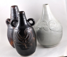 Wheelthrown Stoneware Bottles 2001
