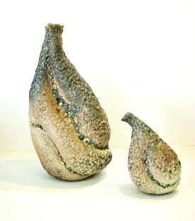 Wheelthrown & Manipulated - Volcanic Glaze