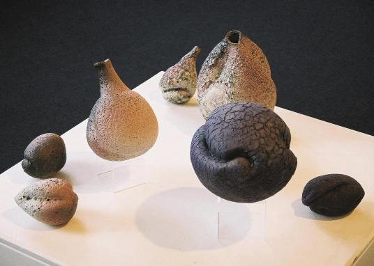 Wheelthrown & Manipulated - Volcanic Glaze & Crackle Glaze