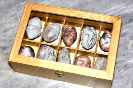 """Specimen Box"" 2013 Wheelthrown & Manipulated Ceramic Pit Fired & Volcanic Glaze"