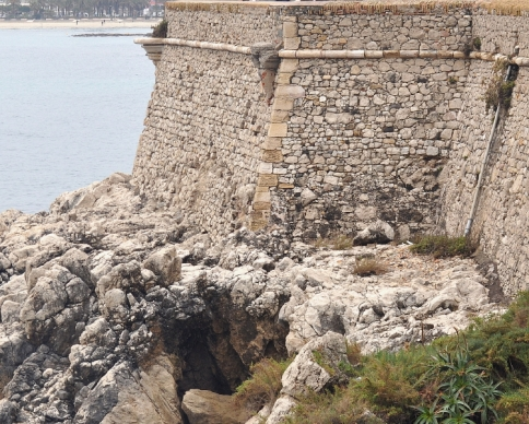 Stone Wall Antibes, France