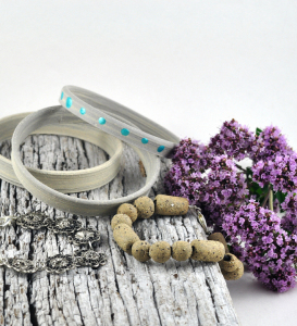 Ceramic Bangle Stack by DeeDeeDeesigns.