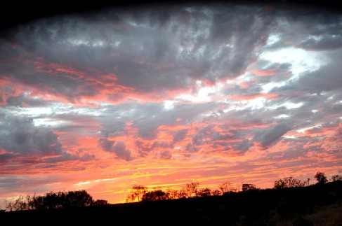 Sunset over The Olgas night 2
