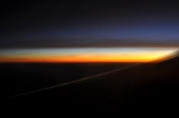 Sunset from Plane between Darwin and Melbourne