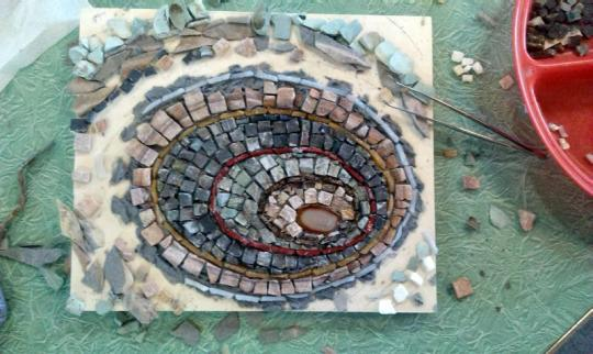 Stone Mosaic in progress 1