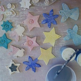 Glazing xmas decorations