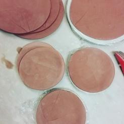 Plates impressed with Pumplin Leaves