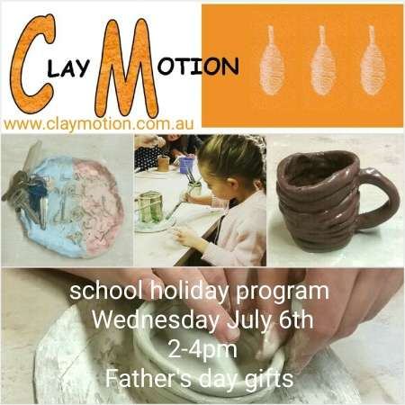 ClayMotion childrens pottery classes Ballarat