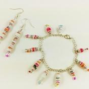 Makeforgood Charm bracelet & earrings