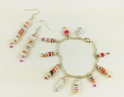 Makeforgood Charm bracelet & earrings