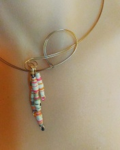 upcycled paper necklace