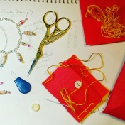 All my Jewellery comes packaged in a handmade jewellery pouch