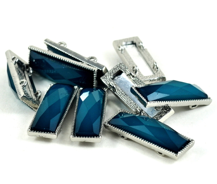 DeeDeeSupplies Rectangle metal faceted beads_001