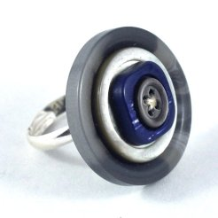 upcycled button ring