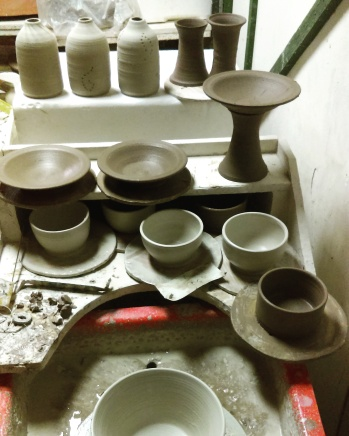 Dawn Whitehand Pottery work in progress