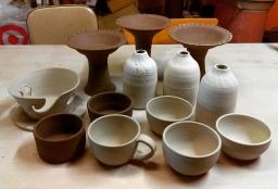 Dawn Whitehand Pottery work in progress