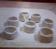 Dawn Whitehand Ceramic Rings in progress