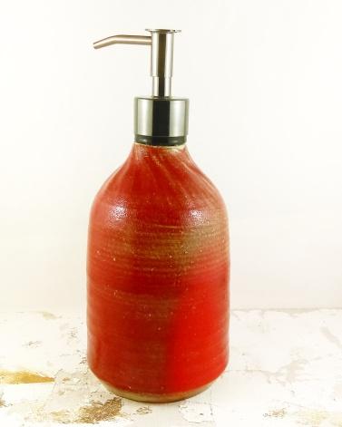 Dawn Whitehand handmade ceramic soap dispenser bottle