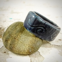 Dawn Whitehand handmade ceramic ring