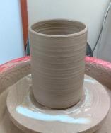 BRT clay cylinder vase Dawn Whitehand
