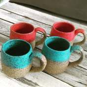 Dawn Whitehand Coffee Mugs BRT clay