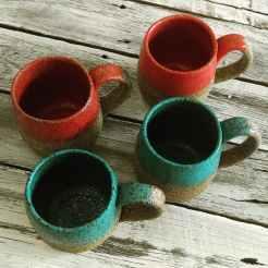 Dawn Whitehand Coffee Mugs BRT clay