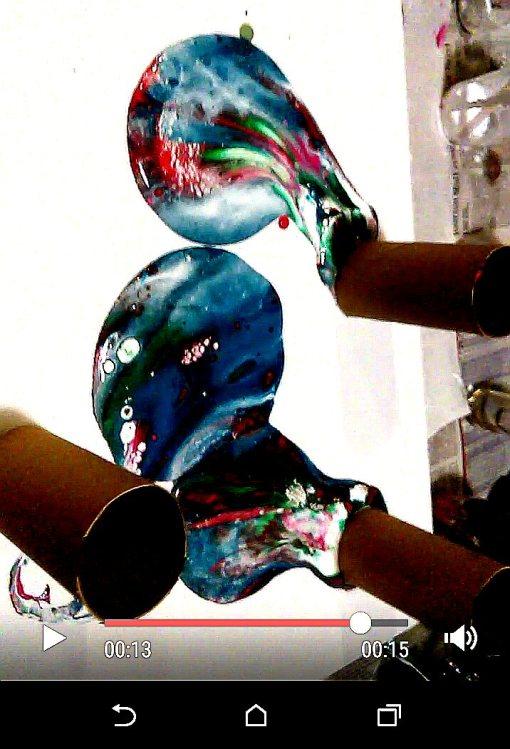 Dawn Whitehnd acrylic pouring