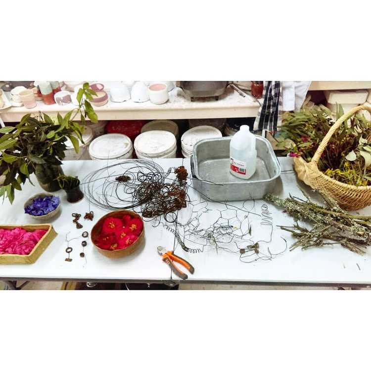 natural dyes with Dawn whitehand