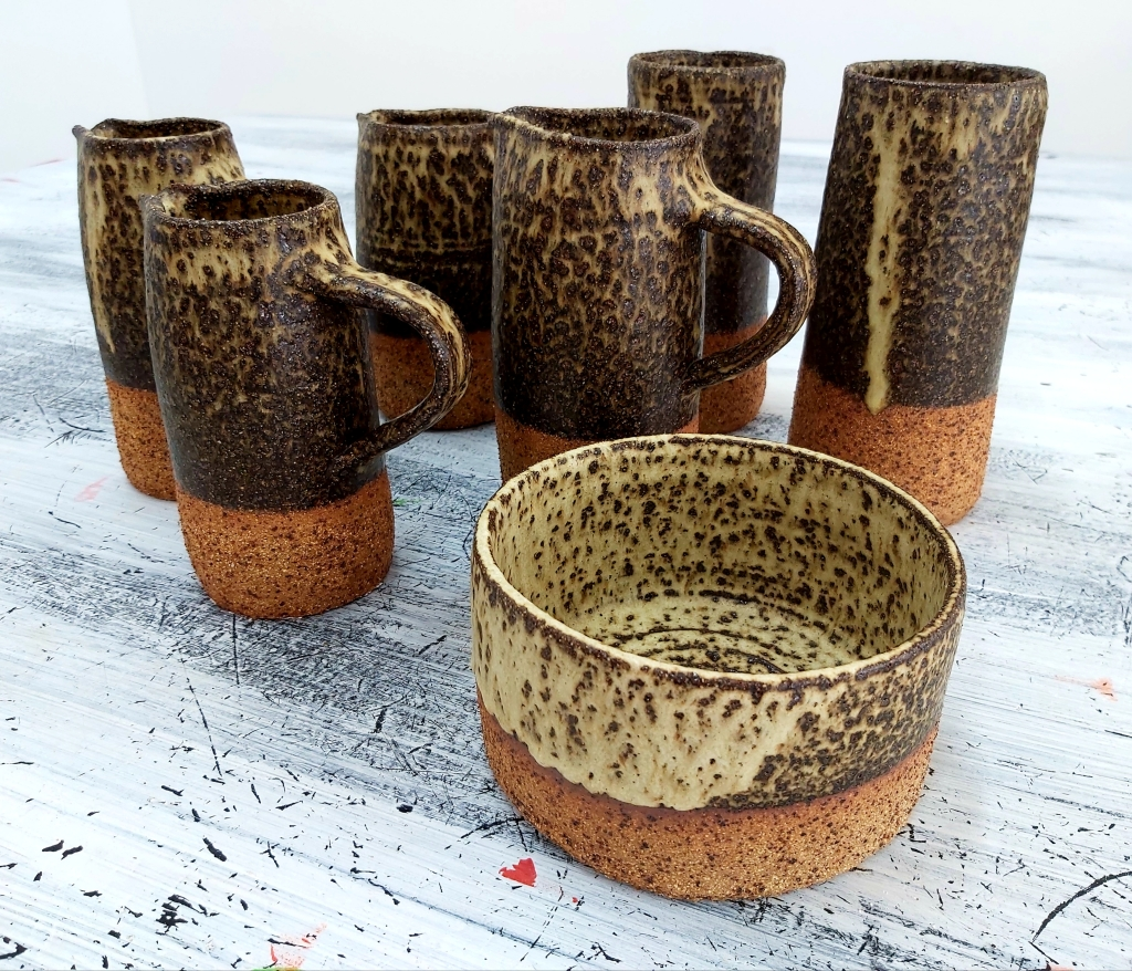 Wheelthrown stoneware Jugs and Vases by Dawn Whitehand